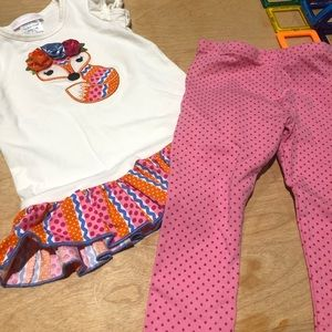 EUC Bonnie Baby 24 month tunic and leggings set